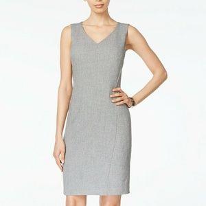 Kasper Women's V-Neck Dress, Grey/Black, 12